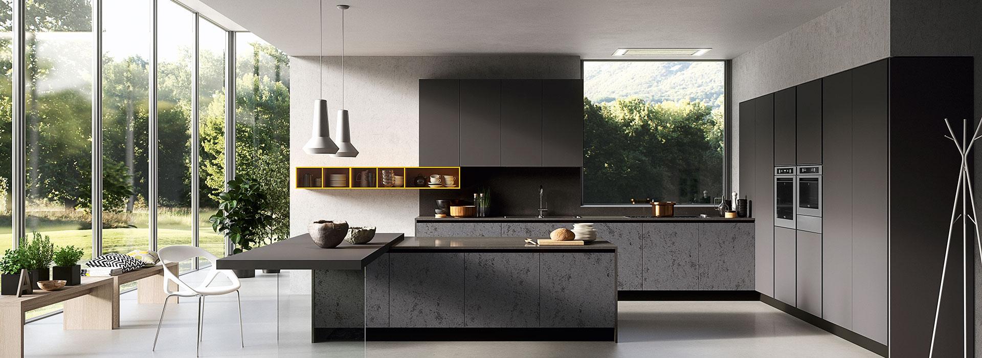Arredamenti Gallomobili Mobili Udine - Cucine Moderne - Cucina Glass